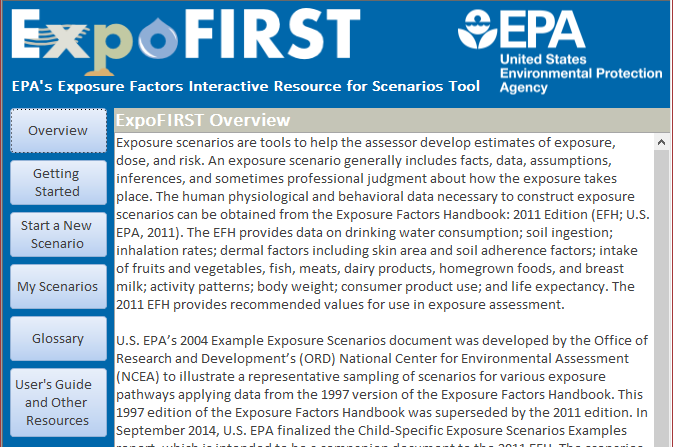 Screen Image of ExpoFIRST Model
