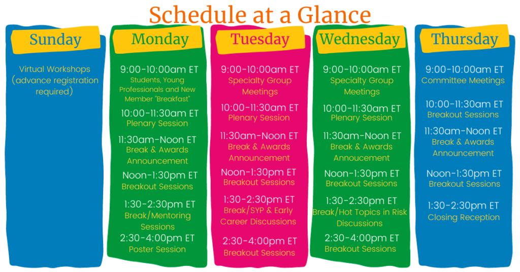 Sra 2020 Am Schedule At A Glance 2